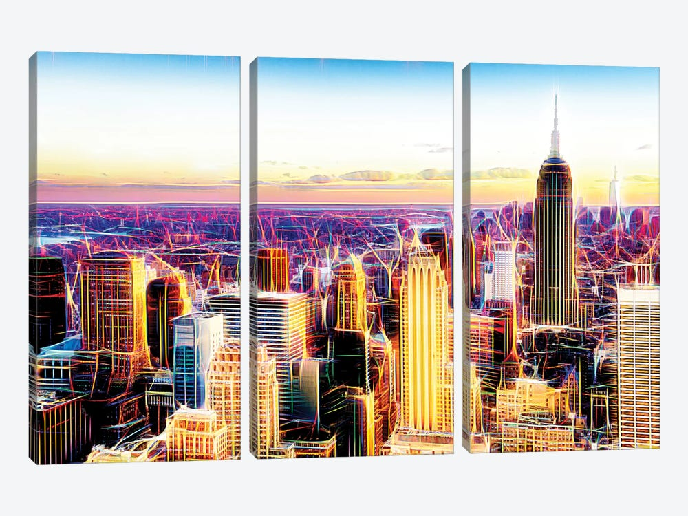 Sublimation II by Philippe Hugonnard 3-piece Canvas Art Print
