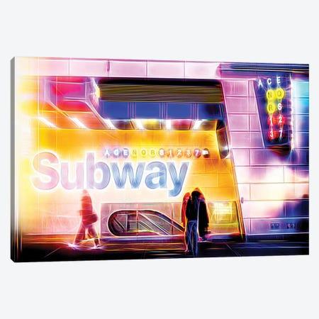 Subway Canvas Print #PHD456} by Philippe Hugonnard Canvas Artwork