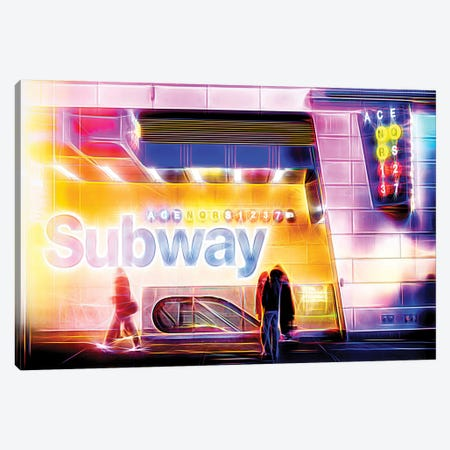 Subway Canvas Print #PHD456} by Philippe Hugonnard Canvas Artwork