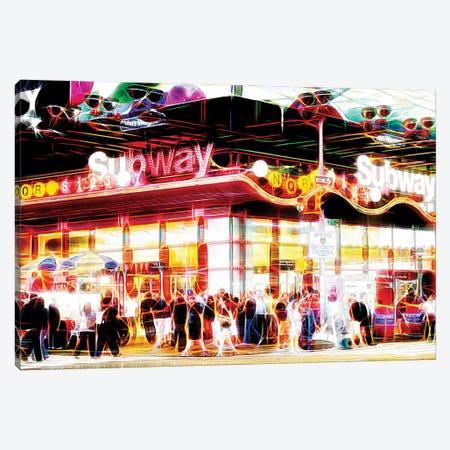 Subway Station Canvas Print #PHD457} by Philippe Hugonnard Canvas Art