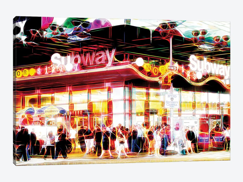 Subway Station by Philippe Hugonnard 1-piece Canvas Print