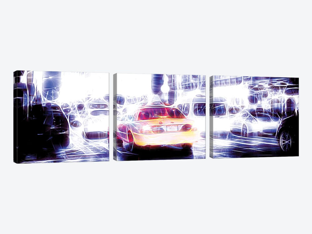 Taxi Cab II by Philippe Hugonnard 3-piece Canvas Art Print