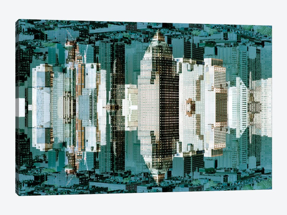 New York Reflection - Green City by Philippe Hugonnard 1-piece Canvas Art Print
