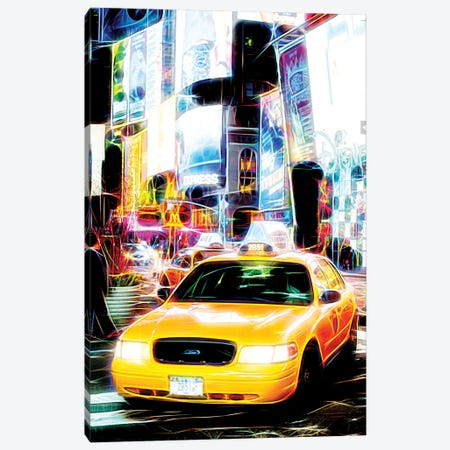 Taxi Fevers Canvas Print #PHD460} by Philippe Hugonnard Canvas Artwork