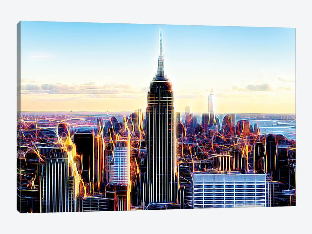 The Skyscrapers by Philippe Hugonnard 1-piece Canvas Art