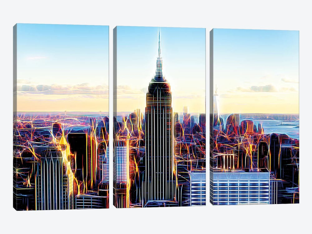 The Skyscrapers by Philippe Hugonnard 3-piece Canvas Wall Art