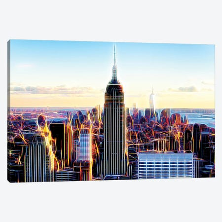 The Skyscrapers Canvas Print #PHD463} by Philippe Hugonnard Canvas Wall Art