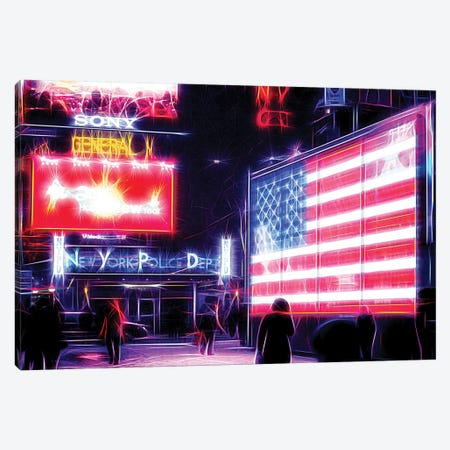US Flag Canvas Print #PHD467} by Philippe Hugonnard Canvas Art Print