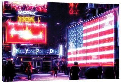 US Flag Canvas Art Print