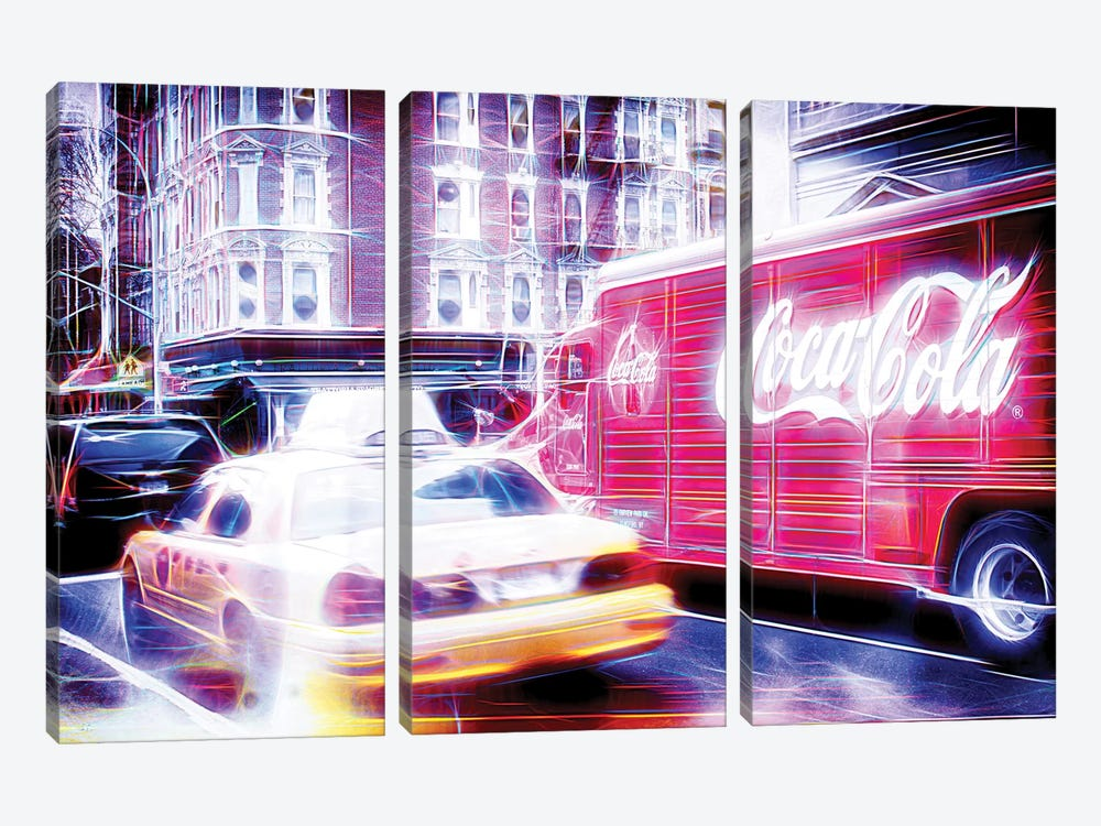 US Transportation by Philippe Hugonnard 3-piece Canvas Artwork