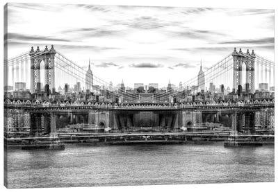 Manhattan Bridge - BW Canvas Art Print