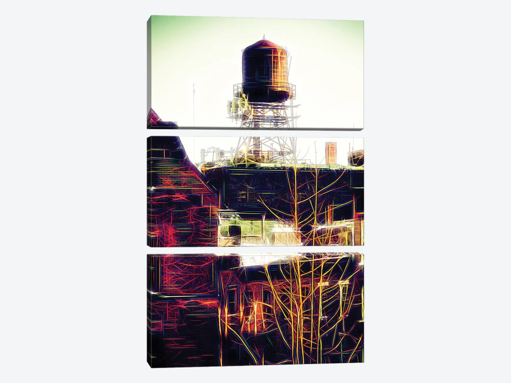 Water Tank by Philippe Hugonnard 3-piece Canvas Wall Art