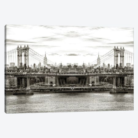 Manhattan Bridge Canvas Print #PHD47} by Philippe Hugonnard Canvas Art Print