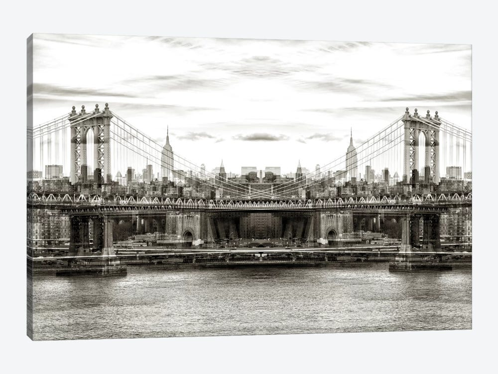 New York Reflection - Manhattan Bridge 1-piece Art Print