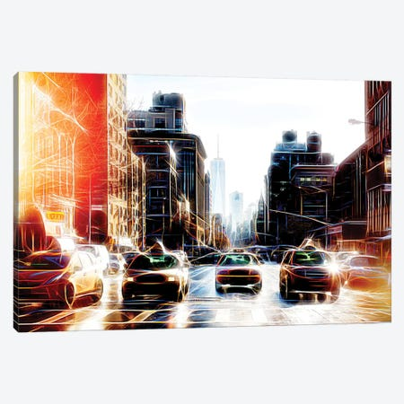 Yellow Line Canvas Print #PHD480} by Philippe Hugonnard Canvas Artwork