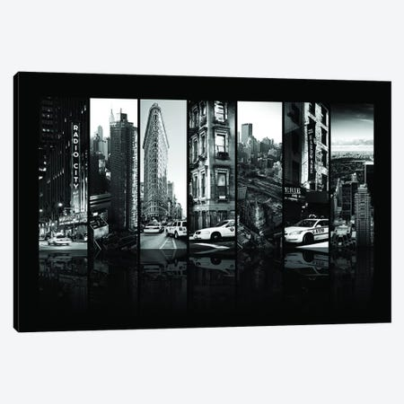 Seven Of 7 NYC B&W I Canvas Print #PHD482} by Philippe Hugonnard Canvas Artwork