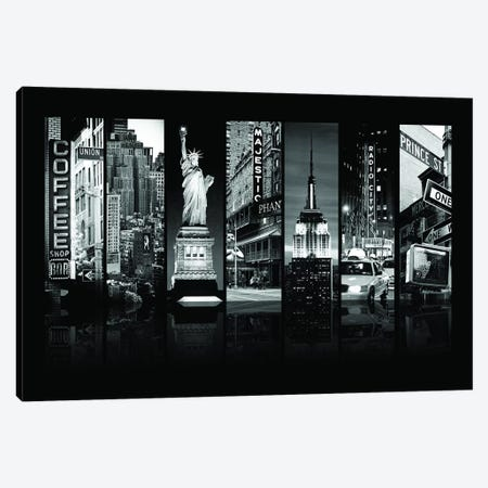 Seven Of 7 NYC B&W II Canvas Print #PHD483} by Philippe Hugonnard Canvas Wall Art