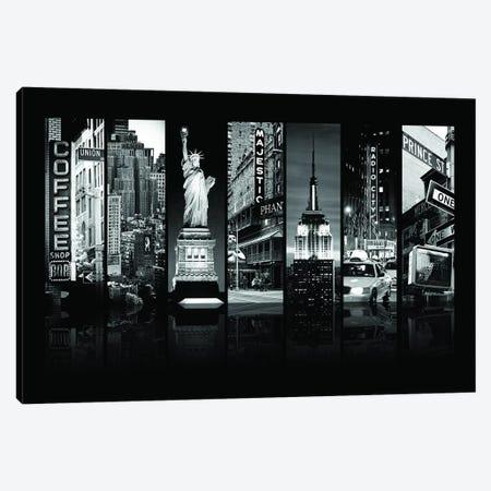 Seven Of 7 NYC B&W II Canvas Print #PHD483} by Philippe Hugonnard Canvas Wall Art