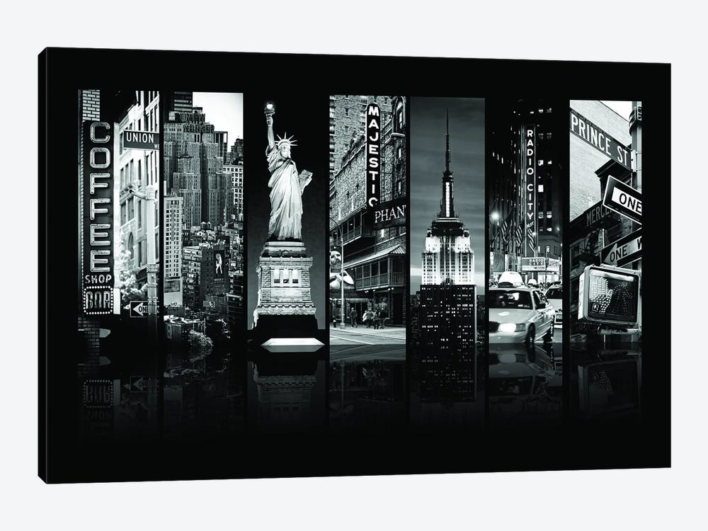 Seven Of 7 NYC B&W II by Philippe Hugonnard 1-piece Canvas Artwork