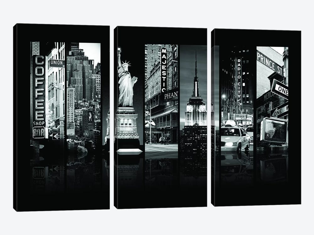 Seven Of 7 NYC B&W II by Philippe Hugonnard 3-piece Canvas Wall Art