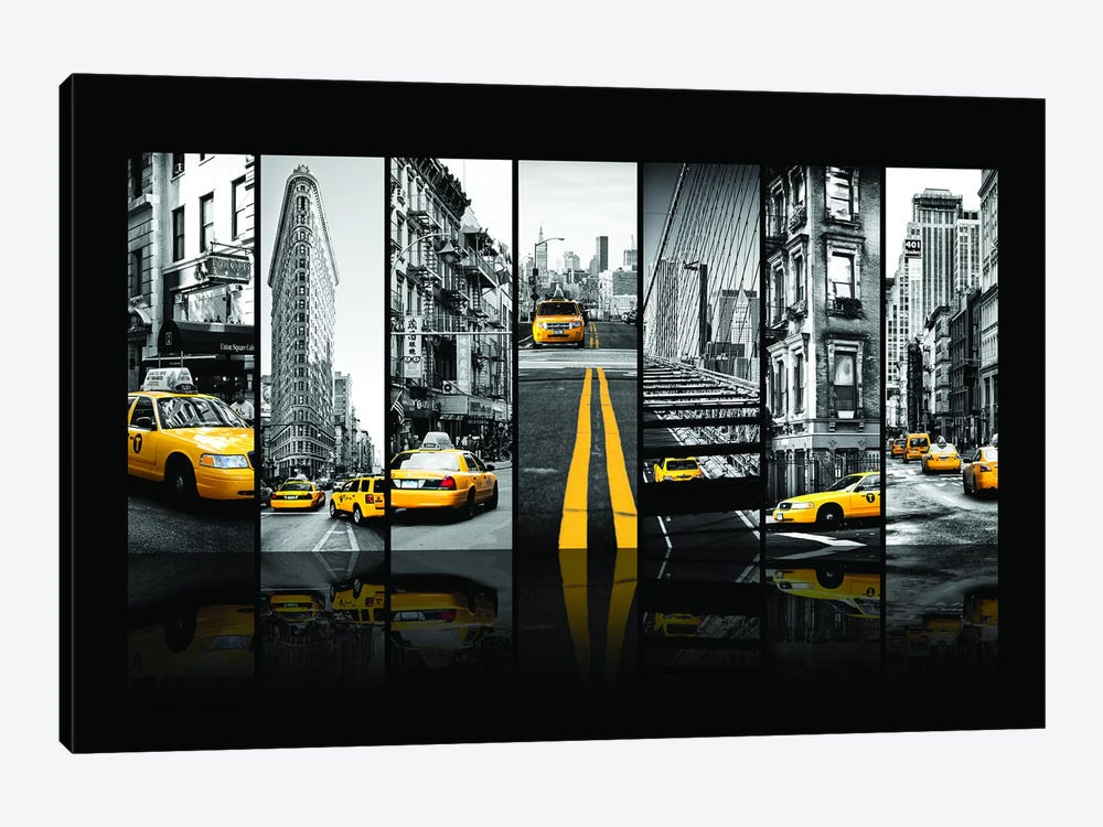 Seven Of 7 NYC B&W III by Philippe Hugonnard 1-piece Canvas Art Print