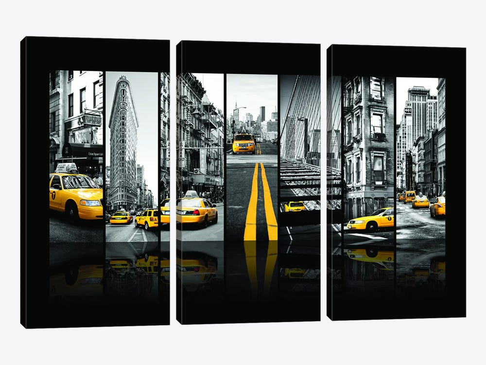 Seven Of 7 NYC B&W III by Philippe Hugonnard 3-piece Canvas Print