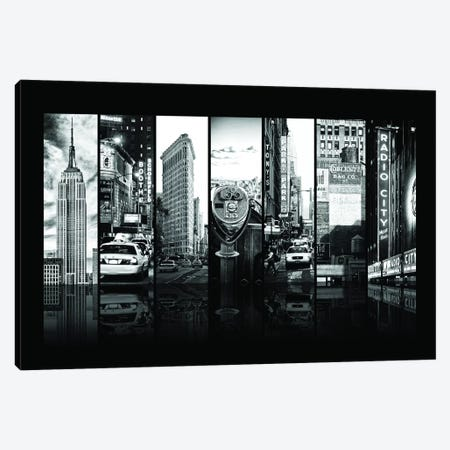 Seven Of 7 NYC B&W IV Canvas Print #PHD485} by Philippe Hugonnard Art Print