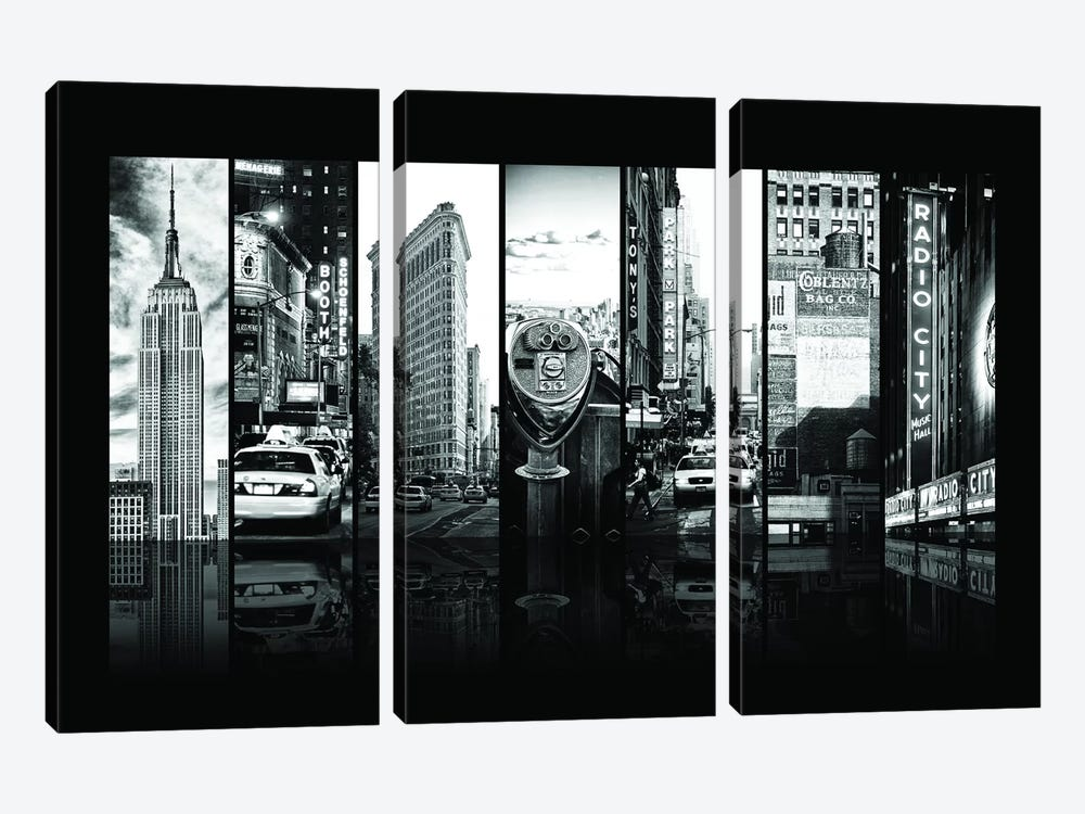 Seven Of 7 NYC B&W IV by Philippe Hugonnard 3-piece Canvas Art