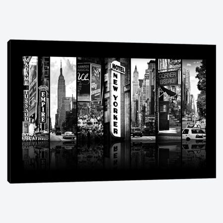 Seven Of 7 NYC B&W V Canvas Print #PHD486} by Philippe Hugonnard Art Print