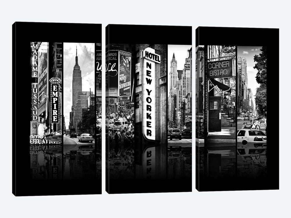 Seven Of 7 NYC B&W V by Philippe Hugonnard 3-piece Canvas Art Print