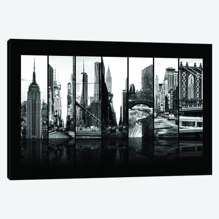 Seven Of 7 NYC B&W VII Canvas Print #PHD488} by Philippe Hugonnard Canvas Wall Art
