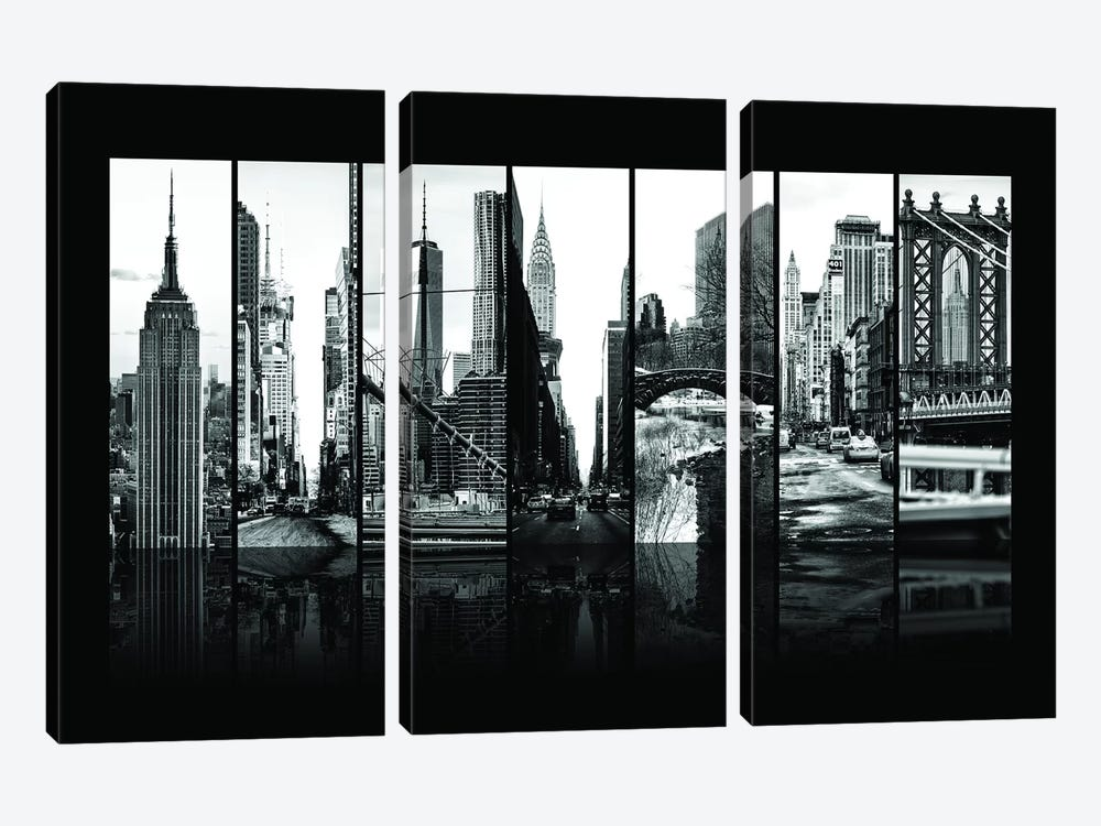 Seven Of 7 NYC B&W VII by Philippe Hugonnard 3-piece Art Print