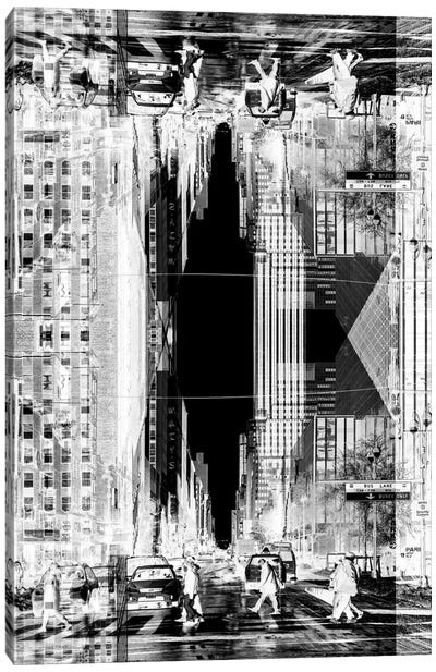 New York Reflection - Manhattan Life Canvas Art Print