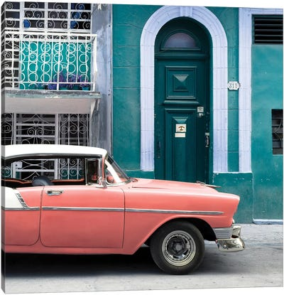 Classic Car In Havana Canvas Art Print