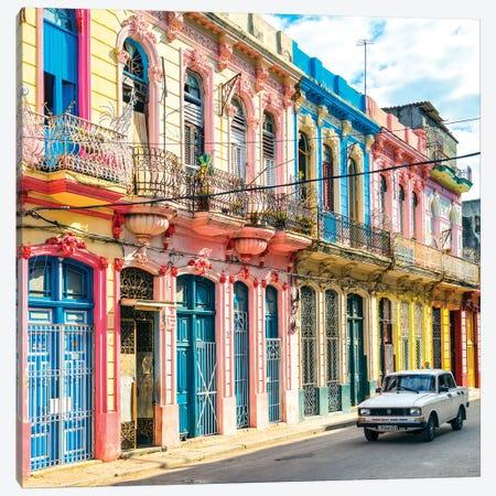 Colorful Facades In Havana Canvas Print #PHD500} by Philippe Hugonnard Canvas Print