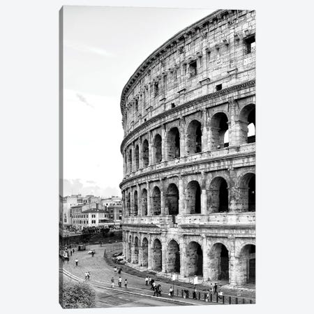 Dolce Vita Rome - The Colosseum In Black & White Canvas Print #PHD502} by Philippe Hugonnard Canvas Art Print