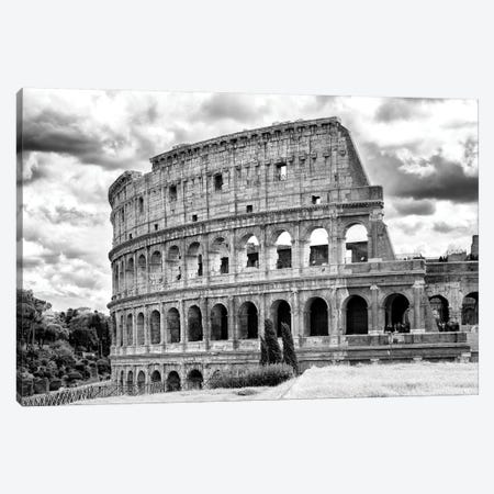 Dolce Vita Rome - Colosseum In Black & White Canvas Print #PHD503} by Philippe Hugonnard Art Print