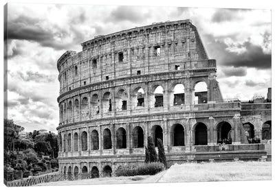 Colosseum In Black & White Canvas Art Print