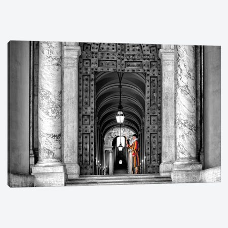 Dolce Vita Rome - The Swiss Guard In Black & White Canvas Print #PHD504} by Philippe Hugonnard Canvas Artwork