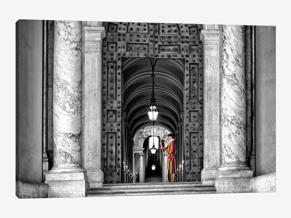 The Swiss Guard In Black & White by Philippe Hugonnard 1-piece Canvas Wall Art