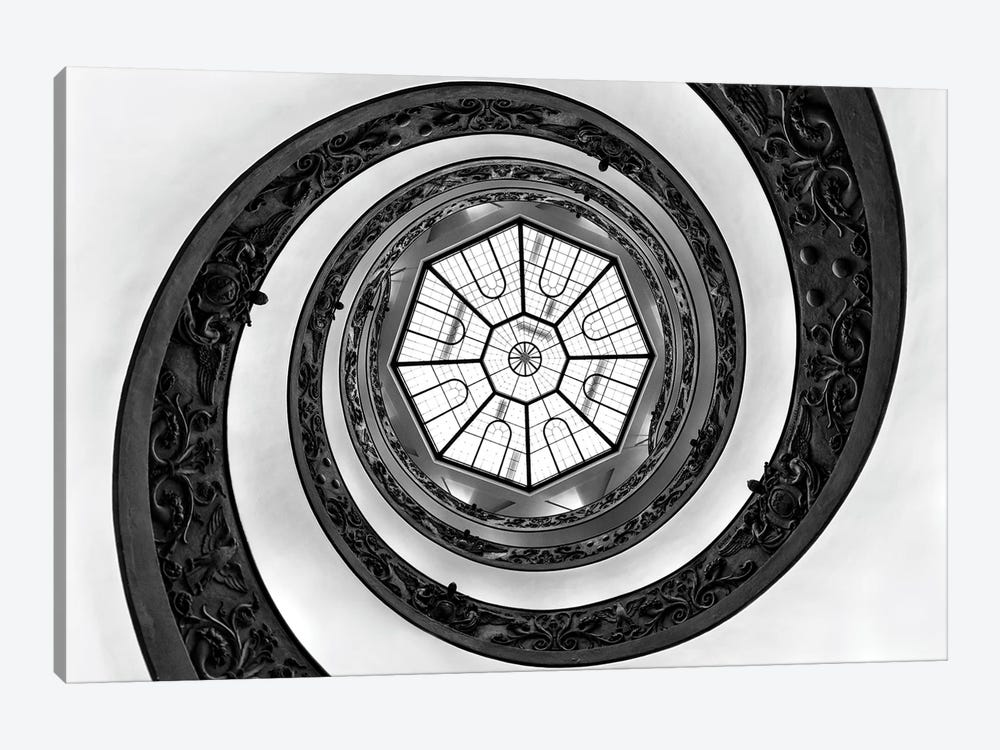 Hypnotic Staircase In Black & White by Philippe Hugonnard 1-piece Art Print
