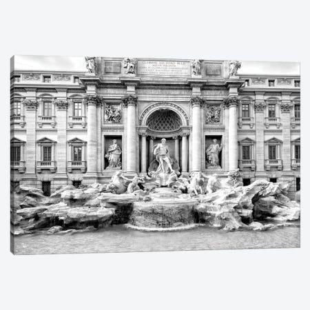 Trevi Fountain In Black & White Canvas Print #PHD508} by Philippe Hugonnard Art Print