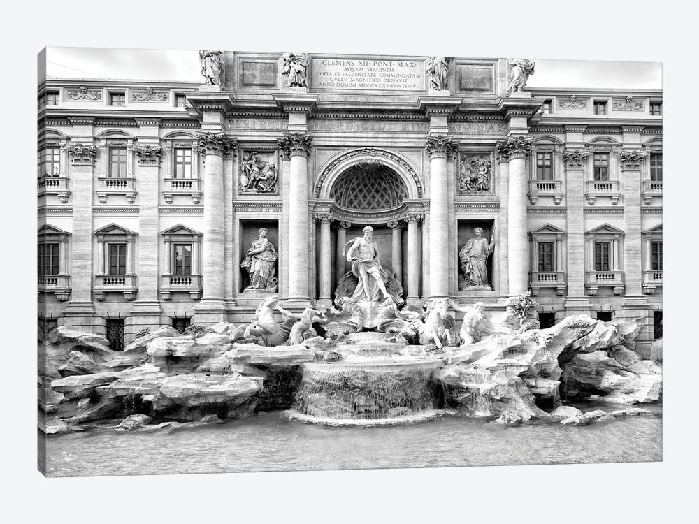 Trevi Fountain In Black & White by Philippe Hugonnard 1-piece Canvas Art