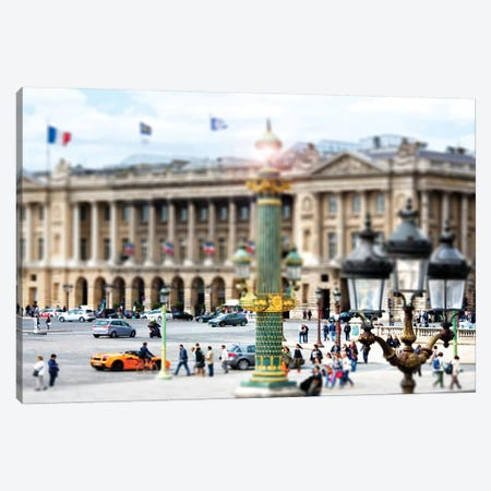 Tilt Shift - Place de la Concorde Paris Canvas Print #PHD510} by Philippe Hugonnard Canvas Artwork