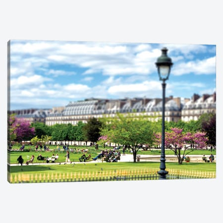 Tilt Shift - Jardin des Tuileries Paris Canvas Print #PHD511} by Philippe Hugonnard Canvas Artwork