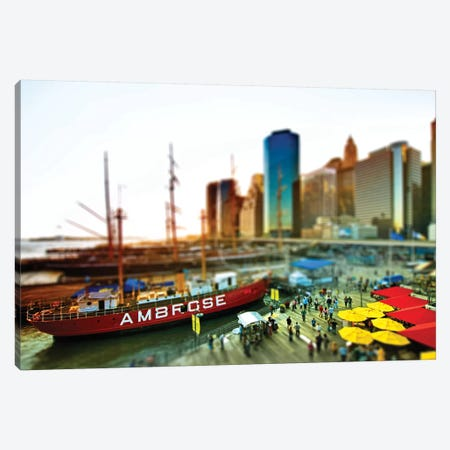 Tilt Shift - Pier 17 NYC Canvas Print #PHD514} by Philippe Hugonnard Art Print