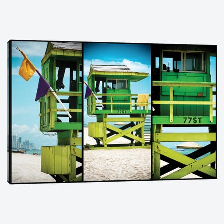 Miami Triptych - 77ST Canvas Print #PHD518} by Philippe Hugonnard Canvas Art