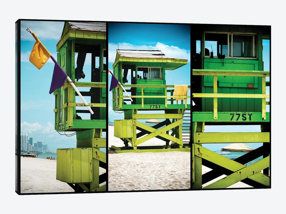 Miami Triptych - 77ST by Philippe Hugonnard 1-piece Art Print