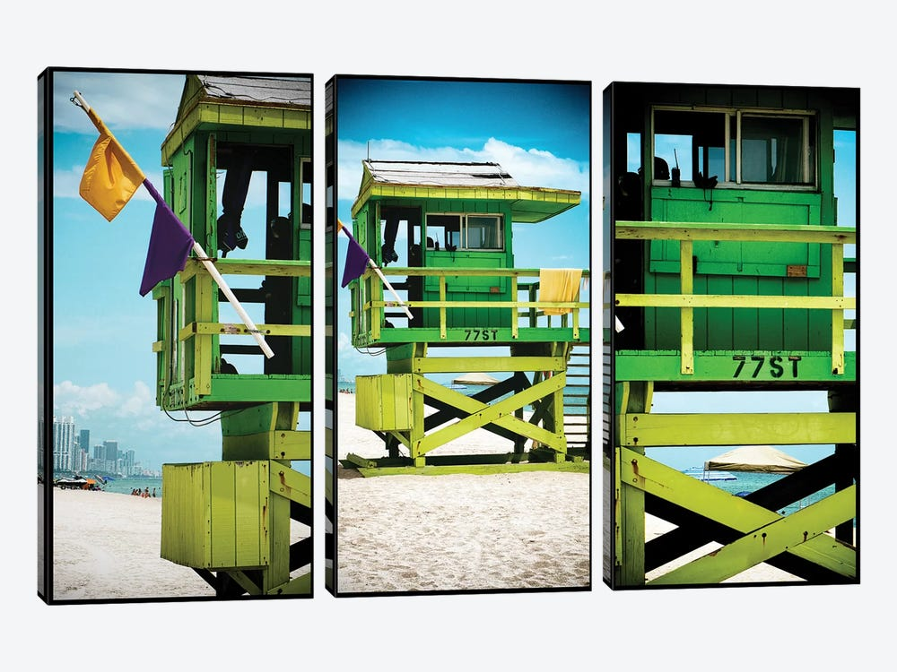 Miami Triptych - 77ST by Philippe Hugonnard 3-piece Art Print