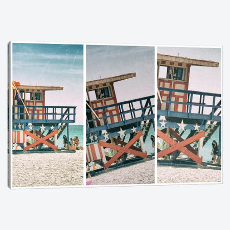 Miami Triptych - Americana Canvas Print #PHD520} by Philippe Hugonnard Art Print